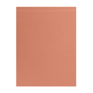 Drap plat coloris Terracotta
