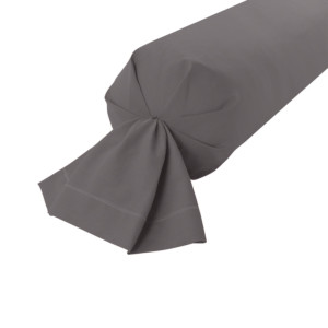 Taie de traversin Coton coloris Anthracite
