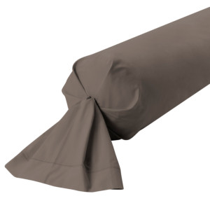 TAIE DE TRAVERSIN PERCALE COLORIS ARGILE
