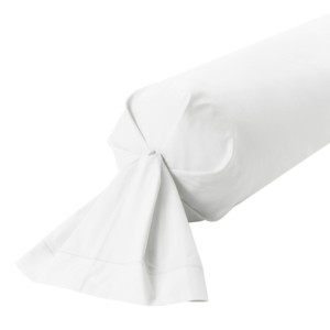 Taie de traversin percale coloris Blanc