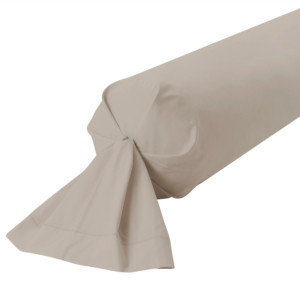 TAIE DE TRAVERSIN PERCALE COLORIS BRUME