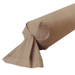 TAIE DE TRAVERSIN PERCALE COLORIS VISON
