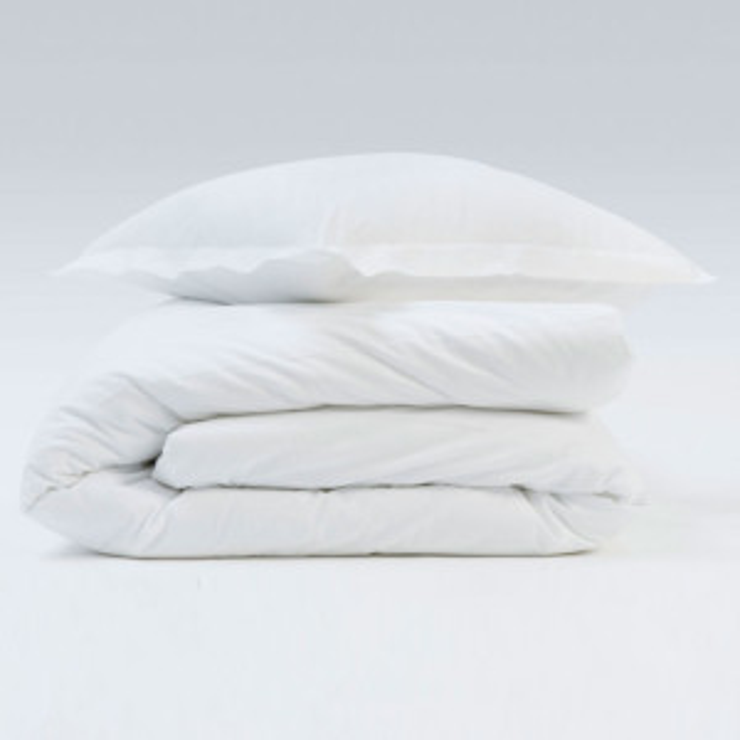 Housse de couette Coton Grand teint coloris Blanc