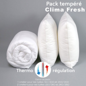 Pack Clima Fresh Thermorégulation couette TEMPEREE + oreiller(s)