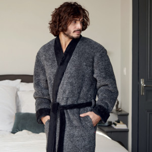 Peignoir homme RELAX anthracite chiné