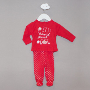 Pyjama fille SLEEP rouge