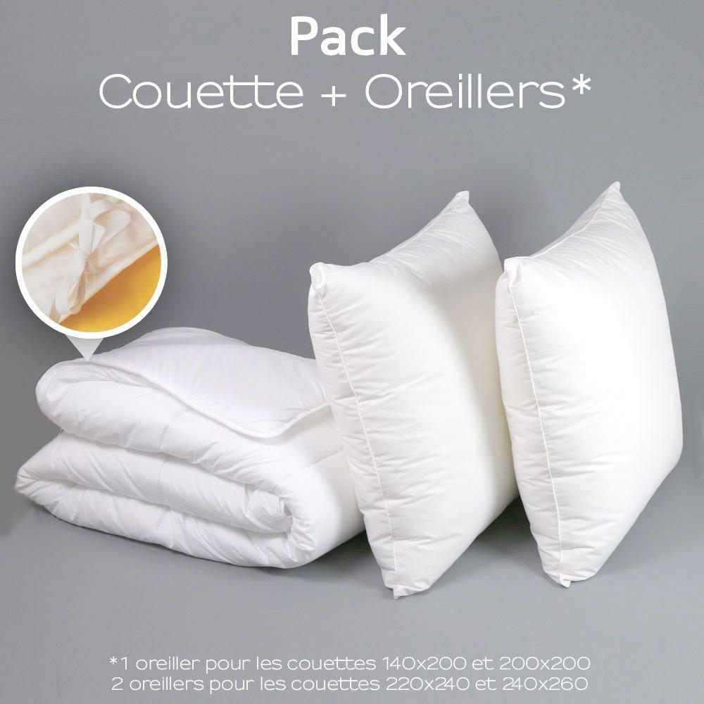 Pack spécial couette 4 Saisons + oreiller(s) Medium Protection Active 60/60